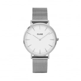 La Bohème Mesh Silver/White Watch