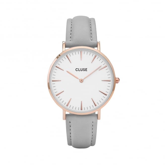 Cluse La Bohème Rose Gold White/Grey Watch