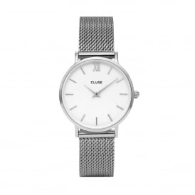 Minuit Mesh Silver Watch