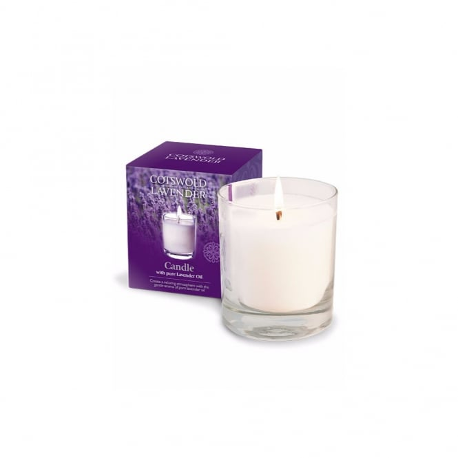 Cotswold Lavender Lavender Candle in Glass