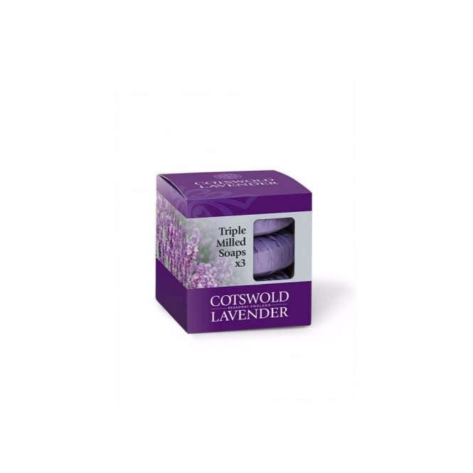 Cotswold Lavender Lavender Triple Milled Soap Gift Box