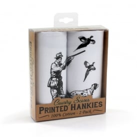 Country Animals Printed Hankies