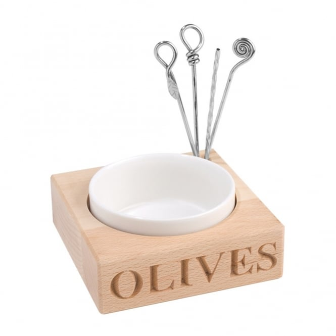 Culinary Concepts 'Olives' Beech Wood Set