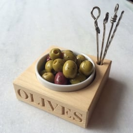 'Olives' Beech Wood Set
