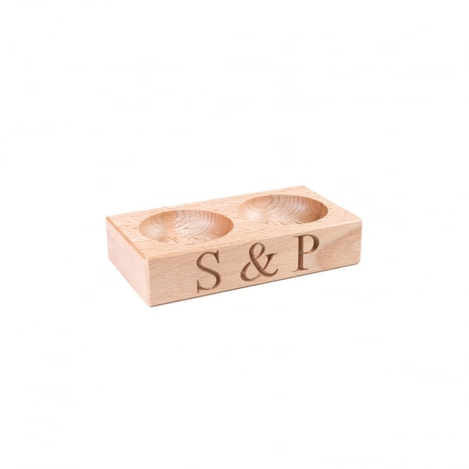 Culinary Concepts Wooden Salt & Pepper Pinch Pots