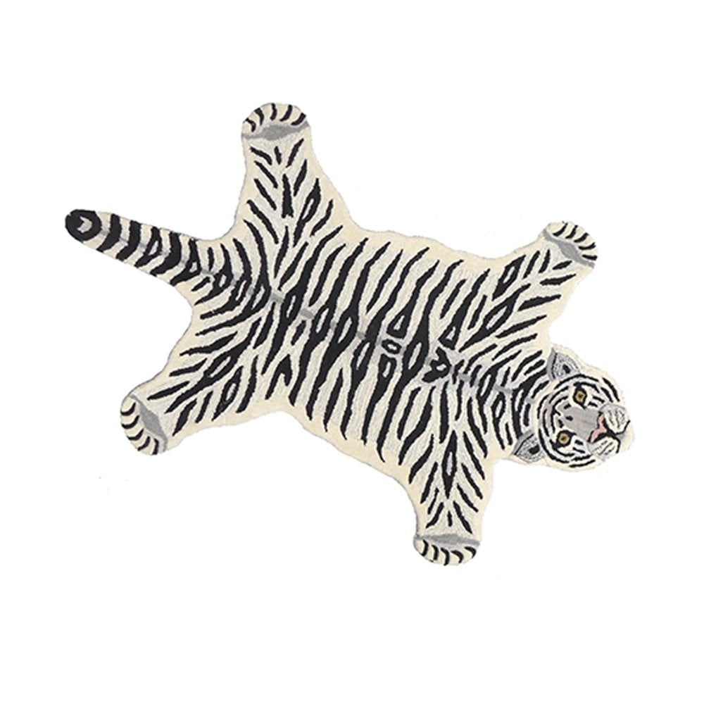 Doing Goods Snow Tiger Wool Rug Large