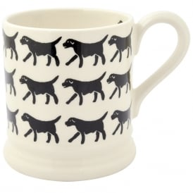 Black Labrador Rows Half Pint Mug