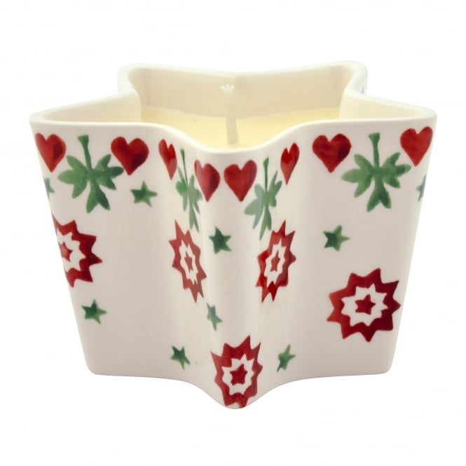 Emma Bridgewater Christmas Joy Star Candle