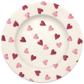 Pink Hearts 8.5 inch Plate