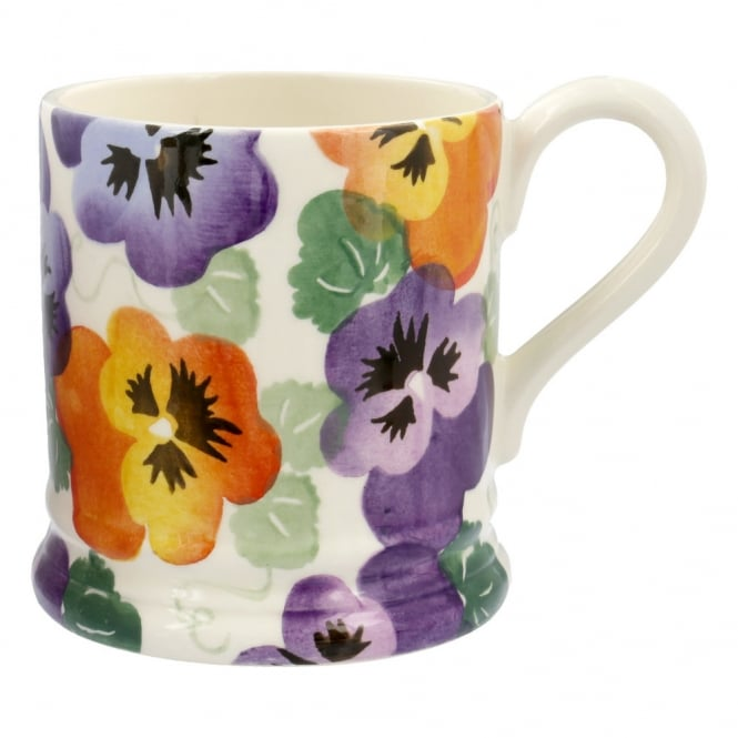 Emma Bridgewater Purple Pansy Half Pint Mug