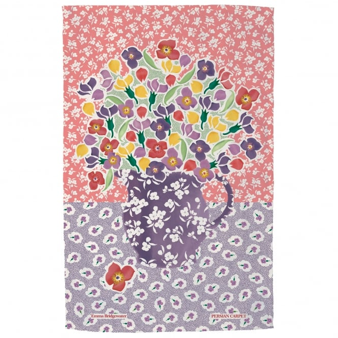 Emma Bridgewater Wallflower Persian Carpet Tea Towel