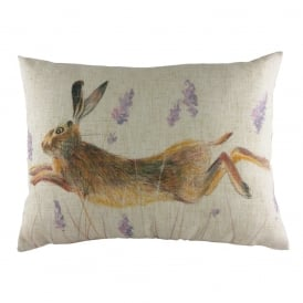 Wrap Leaping Hare Cushion