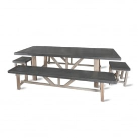 Chilson Table and Bench Set - Large