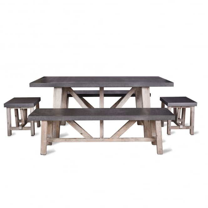 Garden Trading Chilson Table and Bench Set - Small