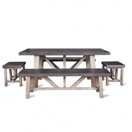 Chilson Table and Bench Set - Small