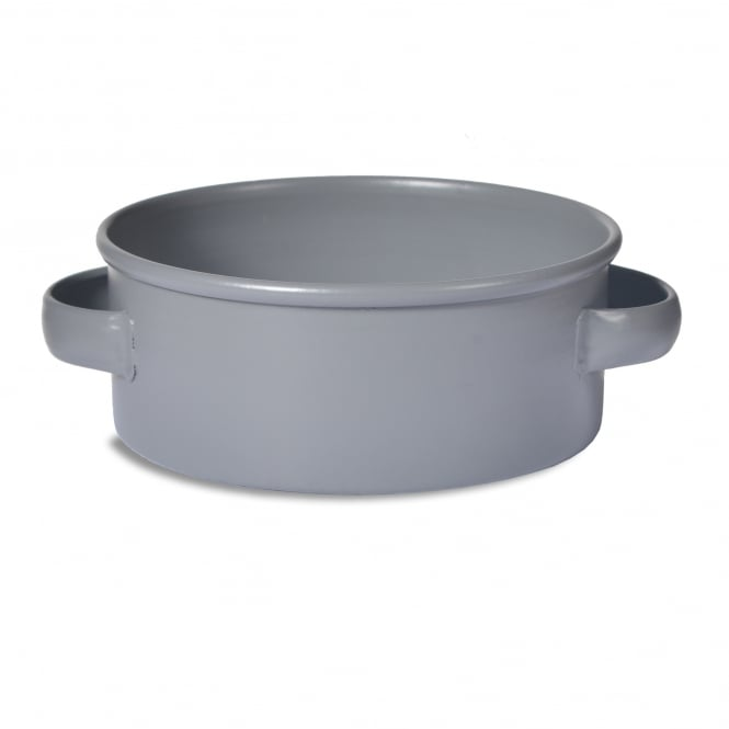 Garden Trading Large Round Pet Bowl Charcoal