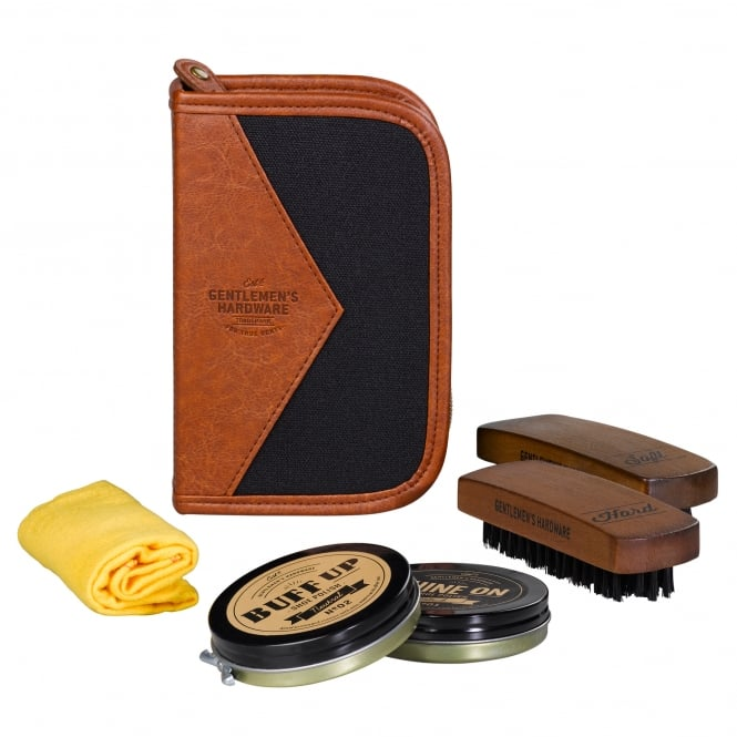 Gentlemen's Hardware Shoe Shine Kit Charcoal