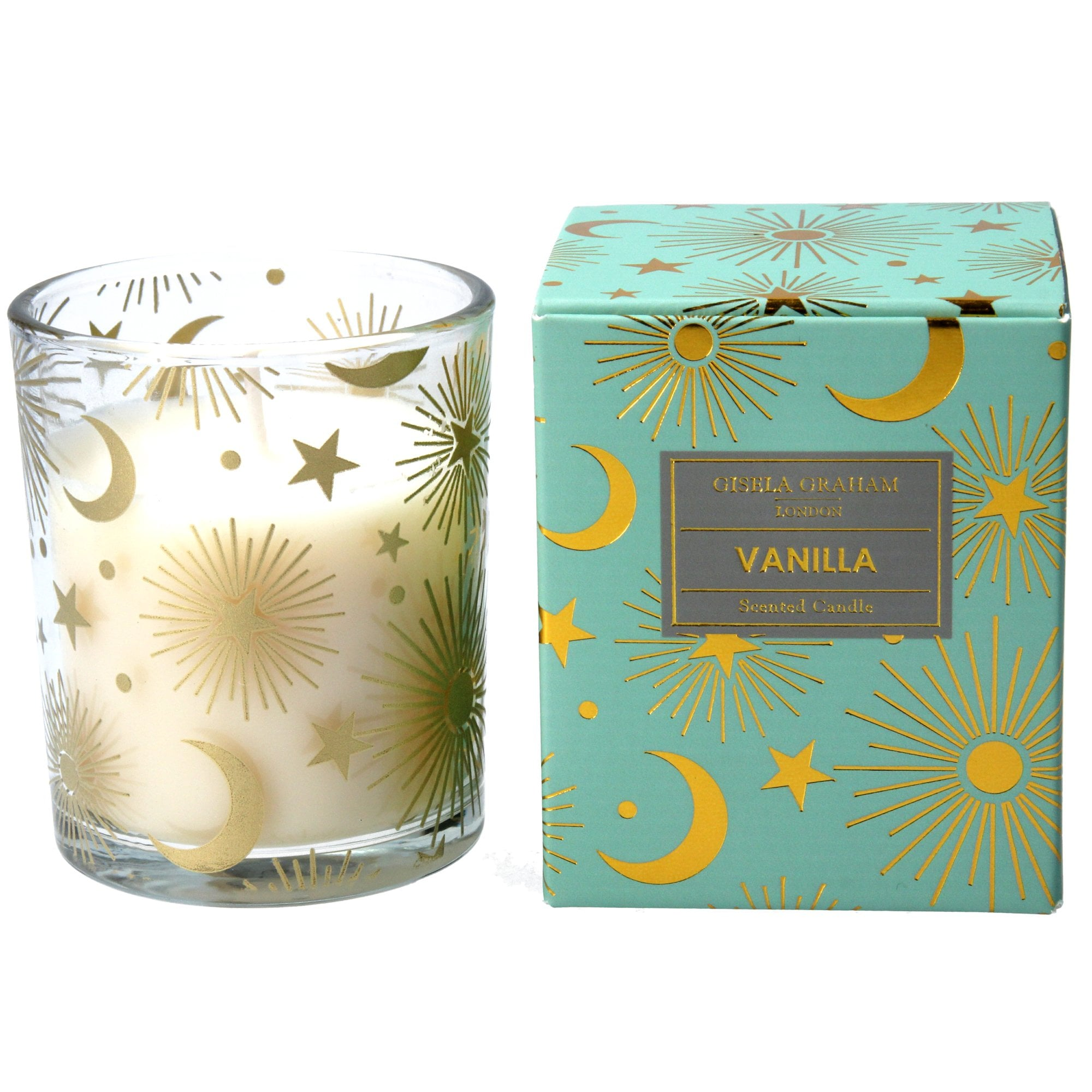 Gisela Graham Celestial Vanilla Scented Candle Small