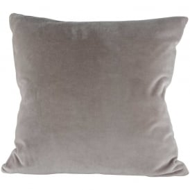 Light Grey Velvet Cushion
