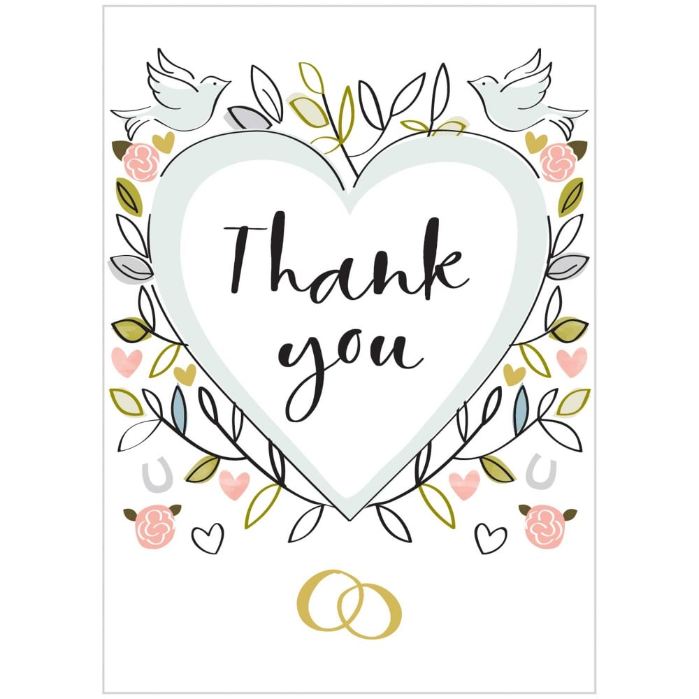 Heart Thank You Card Pack