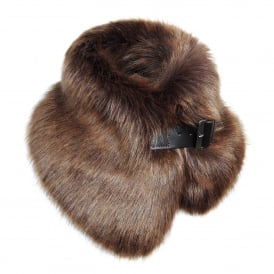 Golden Bear Faux Fur Buckle Collar