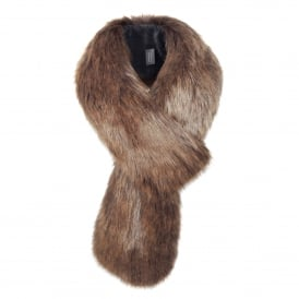 Golden Bear Faux Fur Loop Scarf