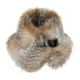 Siberian Wolf Faux Fur Buckle Collar