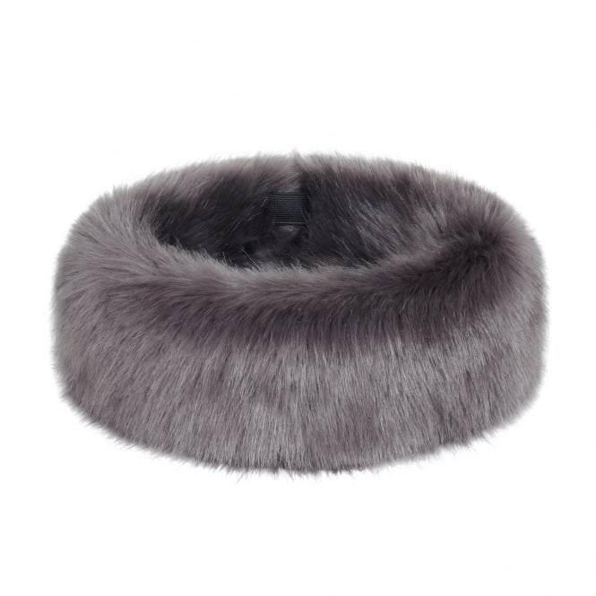 Helen Moore Steel Grey Faux Fur Huff