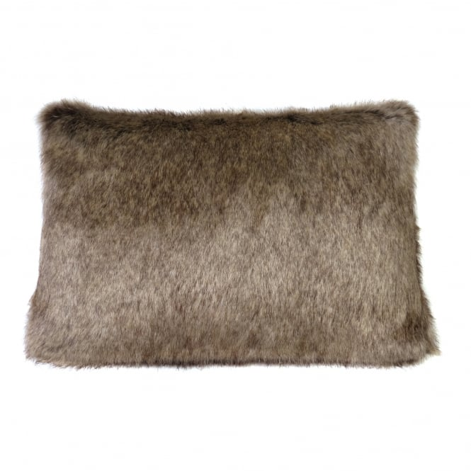 Helen Moore Truffle Signature Faux Fur Cushion