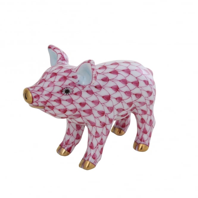 Herend Little Standing Pig Figurine