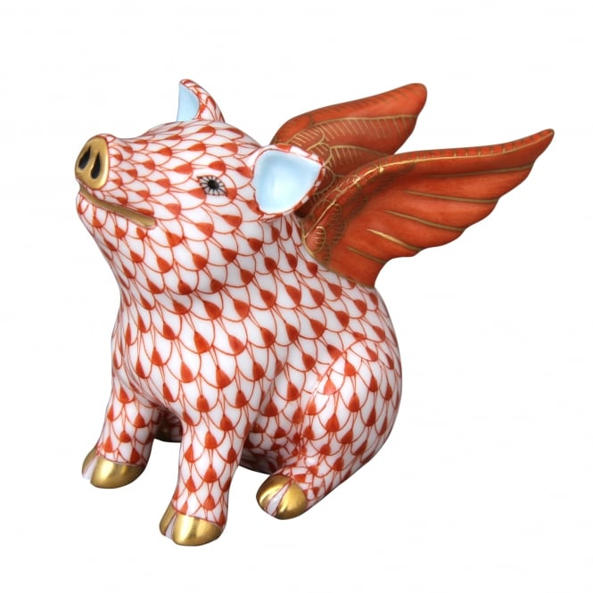 Herend When Pigs Fly Figurine