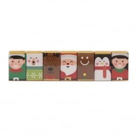 Milk Chocolate Christmas Character Slims Pack