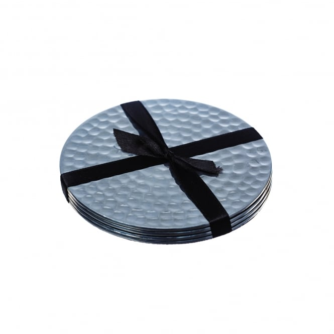 Just Slate Stainless Steel Coasters - Set of 4