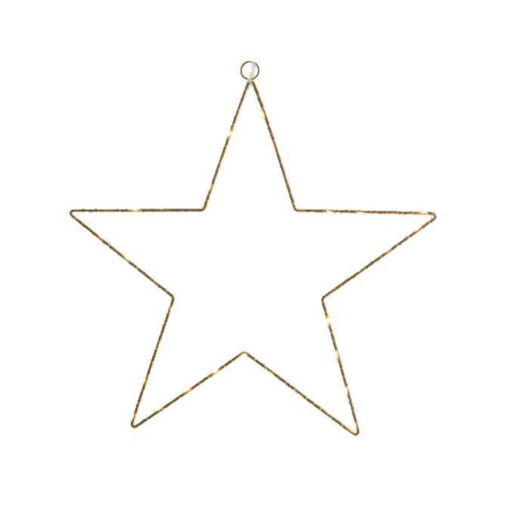 . Kaemingk Gold LED Star Frame Decoration