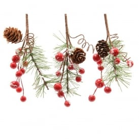 Red and White Berry Hanging Decoration