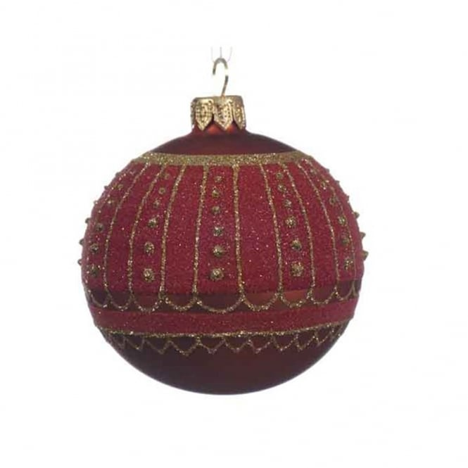 Kaemingk Red Sparkle Bauble Decoration