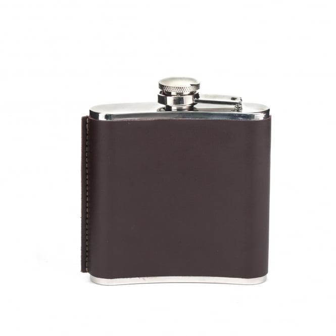 Kikkerland Small Leather Hip Flask
