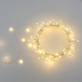 Outdoor Silver Clusters Light Chain