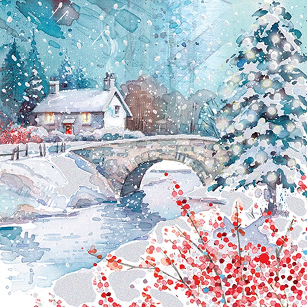 Christmas Card Design.Ling Design A Country Christmas Pack Of 10 Christmas Cards