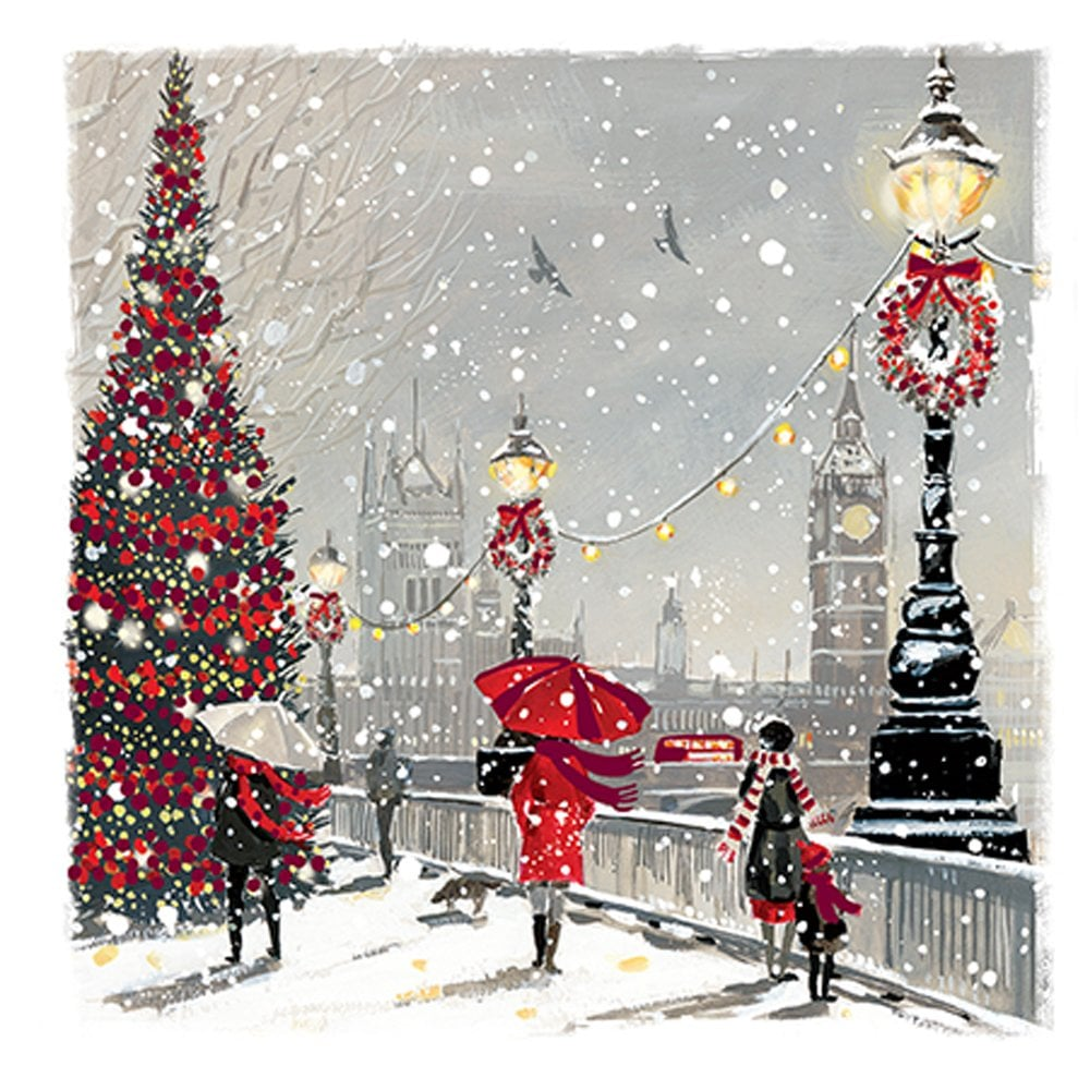 Ling Design A Snowy Day Pack Of 10 Christmas Cards