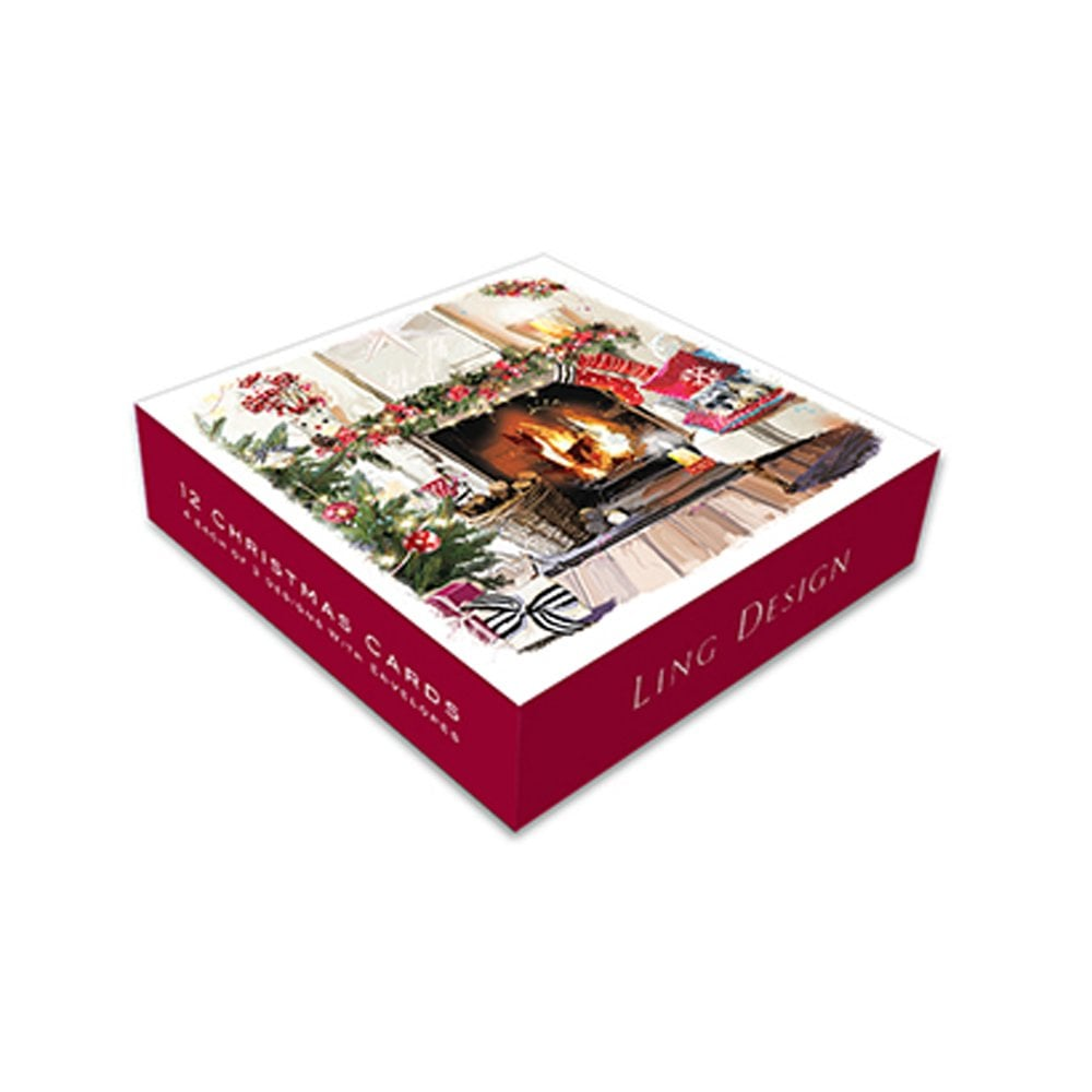 Ling Design Cosy Christmas Pack of 12 Christmas Cards