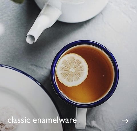 Classic Enamelware at Cotswold Trading