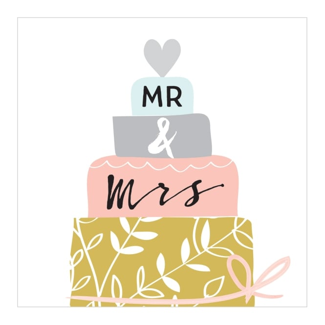 Mr & Mrs Greetings Card
