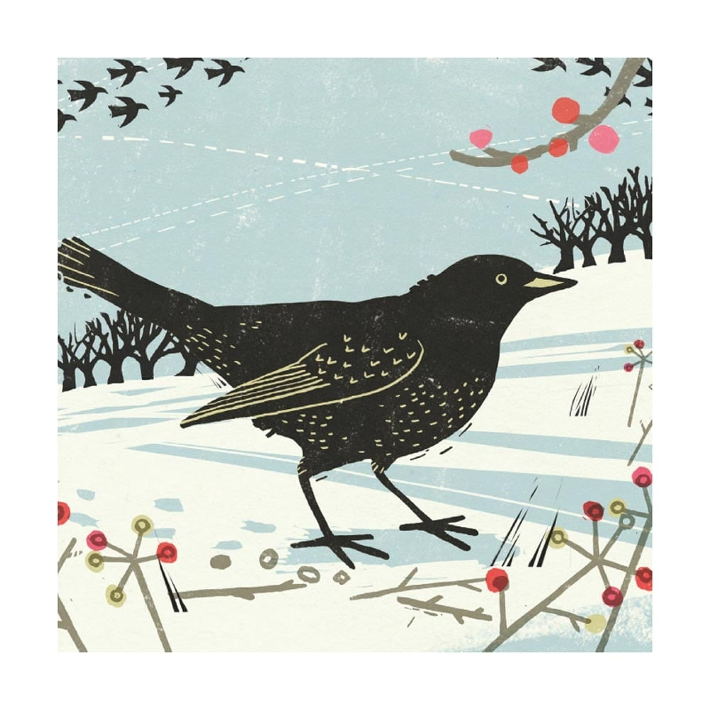 Museums and galleries blackbird pack of 8 christmas cards m4hsunfo