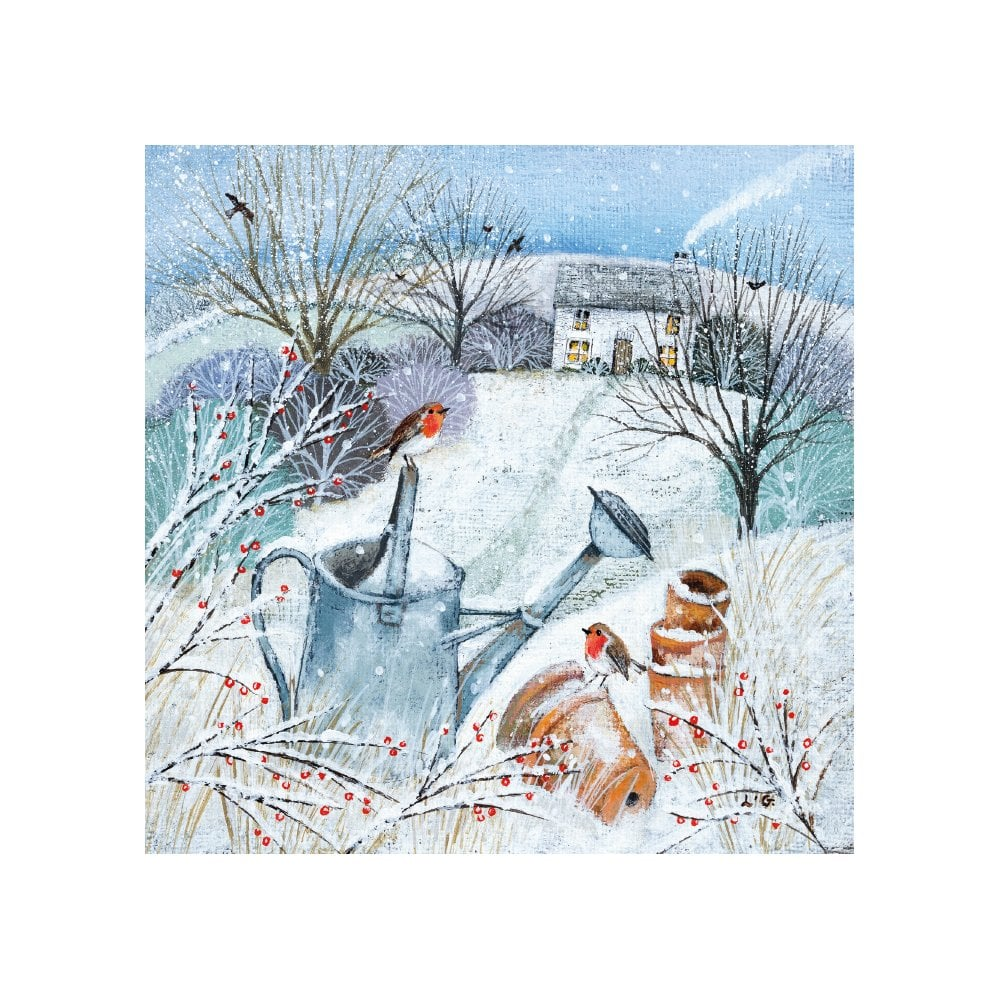 Museums and Galleries Cottage in Snow Pack of 5 Charity Christmas Cards