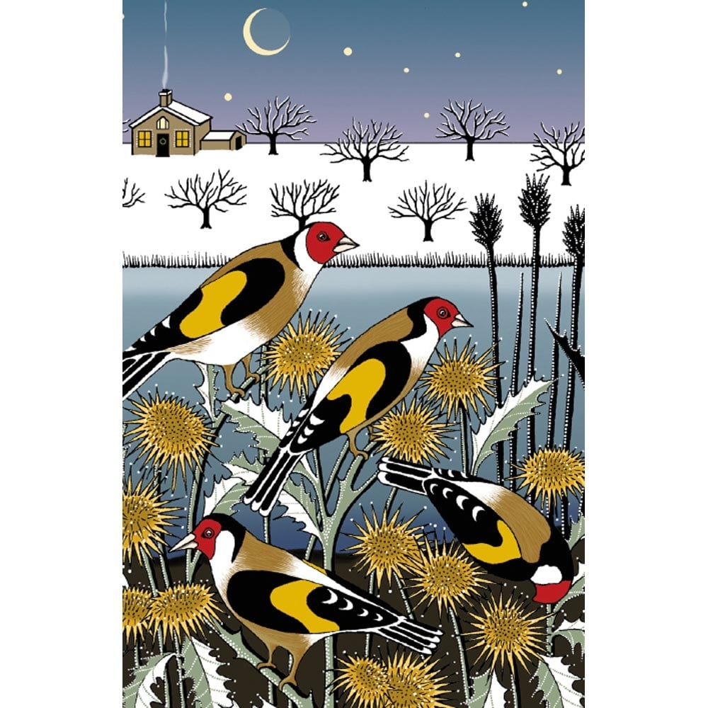 Museums and galleries goldfinch garden pack of 8 charity christmas cards m4hsunfo