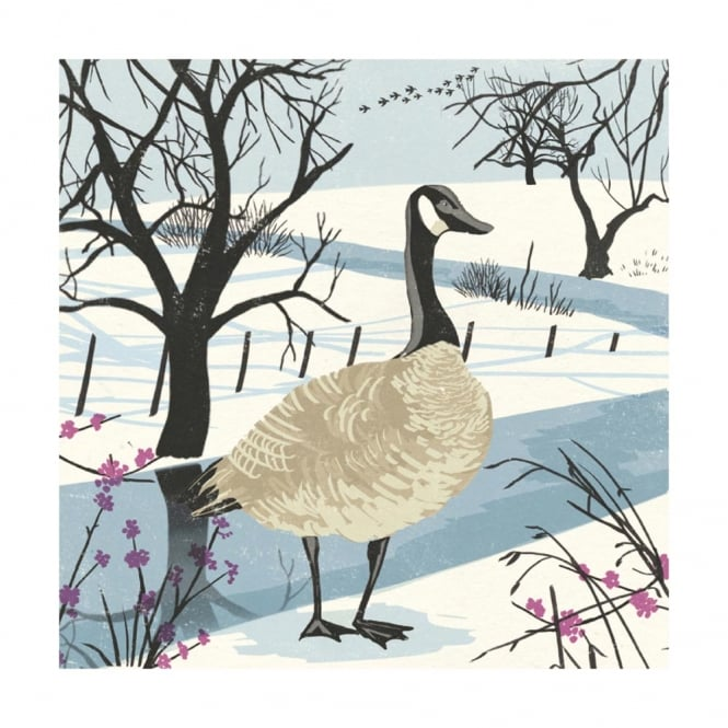 Museums and Galleries Snow Goose Pack of 8 Christmas Cards