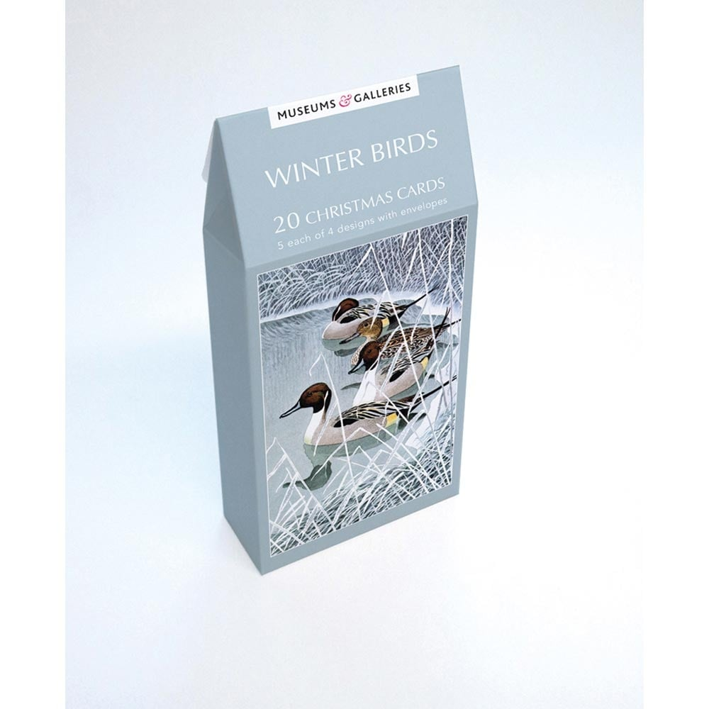 Museums and galleries winter birds pack of 20 christmas cards m4hsunfo