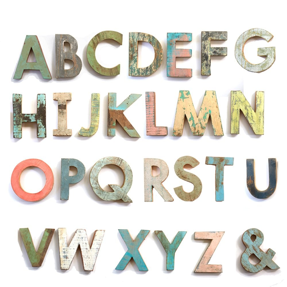 Naman Large Wooden Letters
