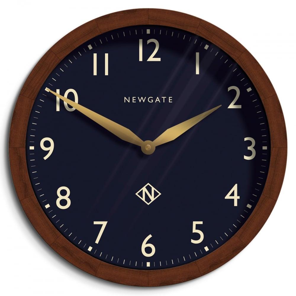 Newgate Billingsgate Wall Clock Petrol Blue